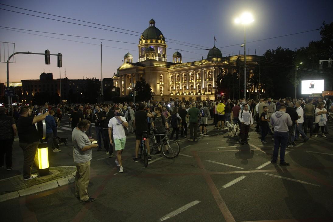 Protest u Beogradu protiv najavljenih mera