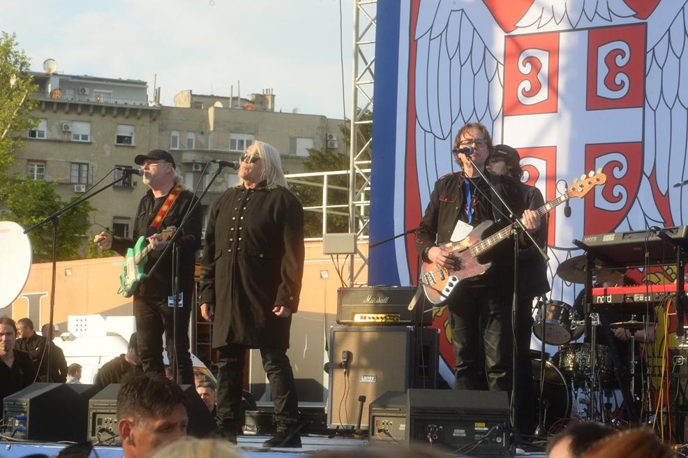 Bora Đorđević na koncertu pred skup Budućnost Srbije