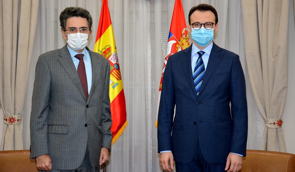 Petković i ambasador Španije o političko-bezbednosnoj situaciji na KiM