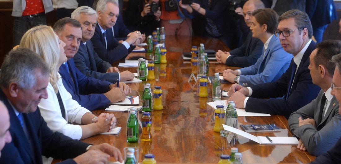 Sastanak predsednika Srbije sa predstavnicima Republike Srpske