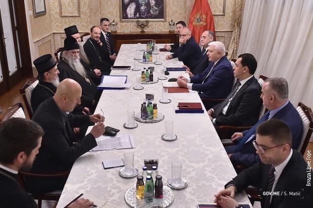 Vlada Crne Gore i Mitropolija dogovorile nastavak razgovora na ekspertskom nivou