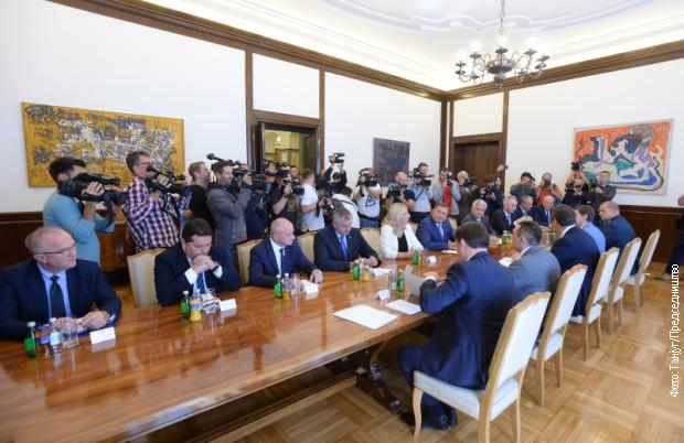 Borenović i Šarović o sastanku sa Vučićem
