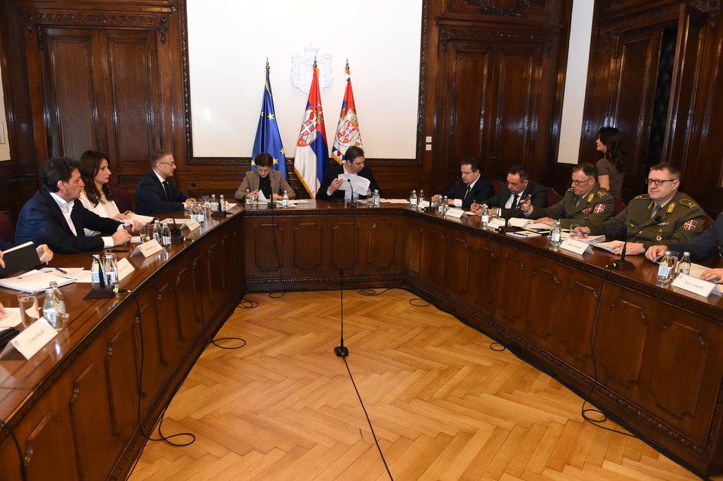Odložena sednica Saveta za nacionalnu bezbednost