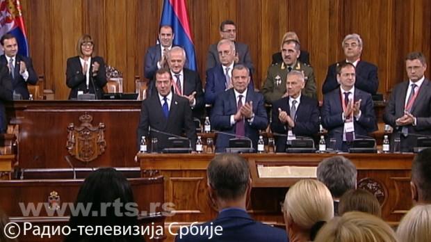 Medvedev u Skupštini: Spremni smo da pružimo podršku očuvanju integriteta i suvereniteta Srbije