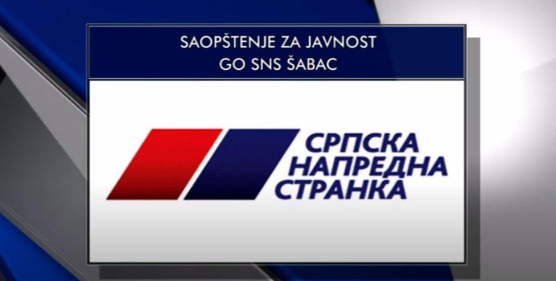 SNS: Šabac je glasao i pokazao Zelenoviću put u političku istoriju