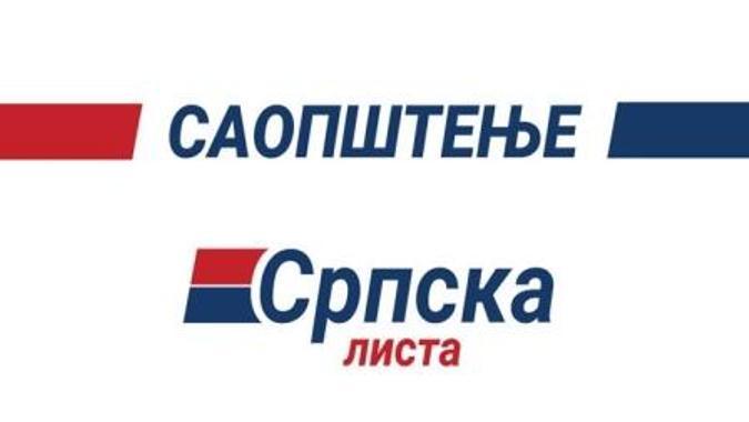 Srpska lista: Uprkos pritiscima nastavljamo borbu za očuvanje srpskih nacionalnih interesa