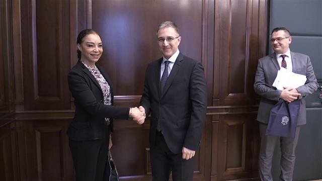 Ministar Stefanović razgovarao sa ambasadorkom Brazila