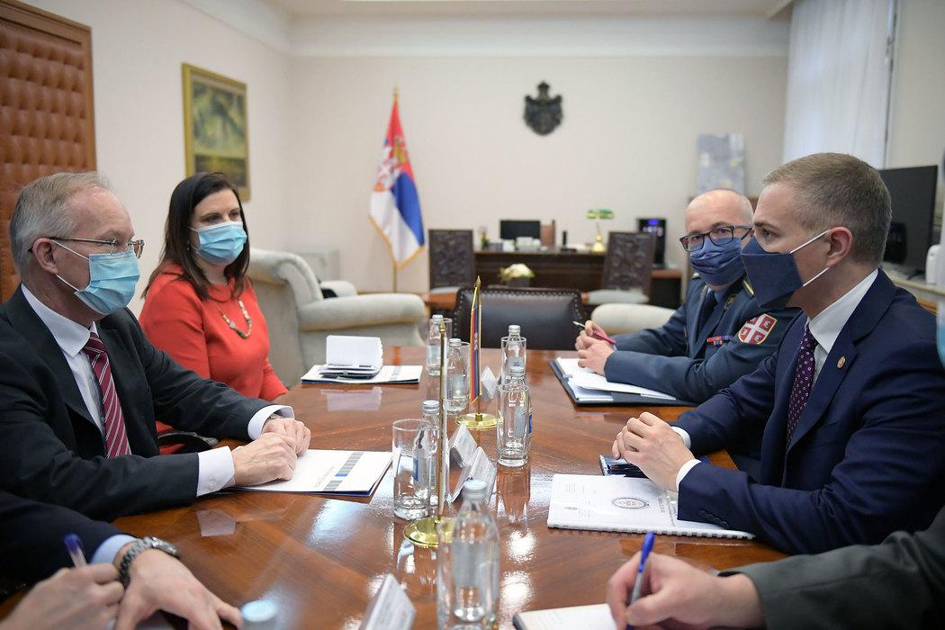Stefanović sa novoizabranim šefom Misije OEBS u Srbiji