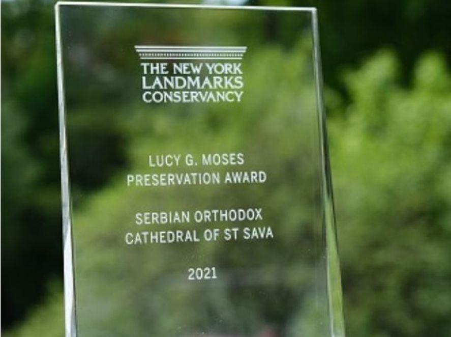 Sabornoj crkvi Svetog Save na Menhetnu dodeljena nagrada Grada Njujorka