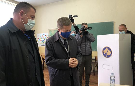 Sunjog obišao biračko mesto u Čaglavici