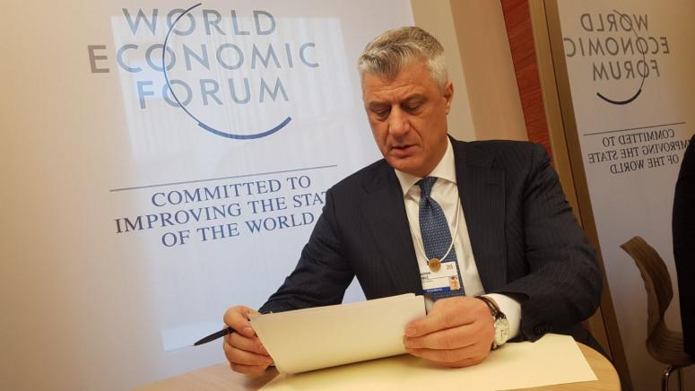 Tači iz Davosa: Očekujem da Kurti brzo formira vladu, sarađivaćemo za Kosovo