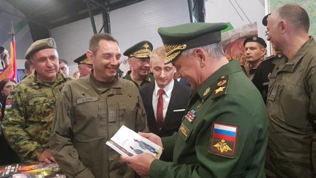 Ministri Vulin i Šojgu na završnici vojnih igara u Rusiji