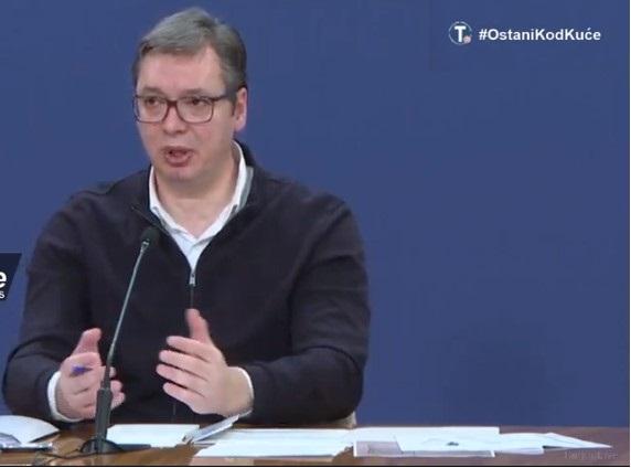 Vučić: Očekujemo povećanje broja zaraženih, strožije mere zabrane kretanja