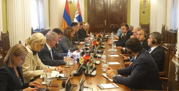Jačanje saradnje na svim poljima između Srbije i Jermenije