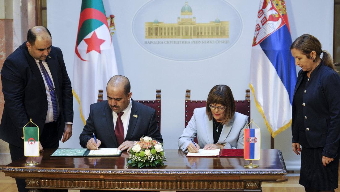Saradnja parlamenata Srbije i Alžira
