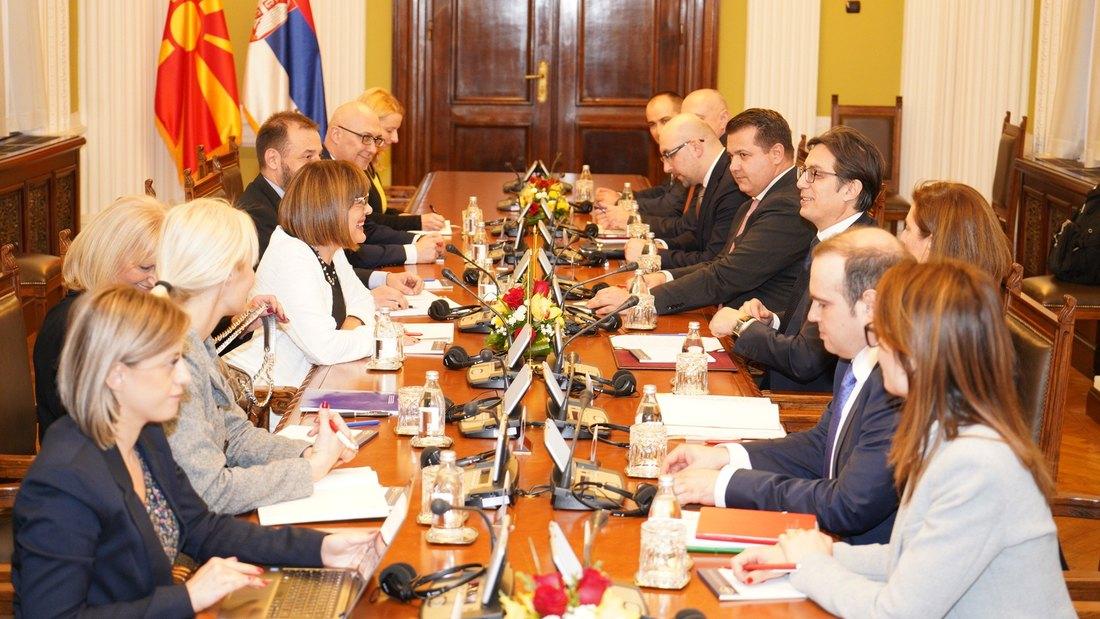 Gojković i Pendarovski: Dve zemlje usmerene na razvoj dobrosusedskih odonosa