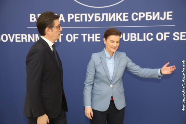 Brnabićeva i Pendarovski o otvaranju Srpskog kulturnog centra u Skoplju