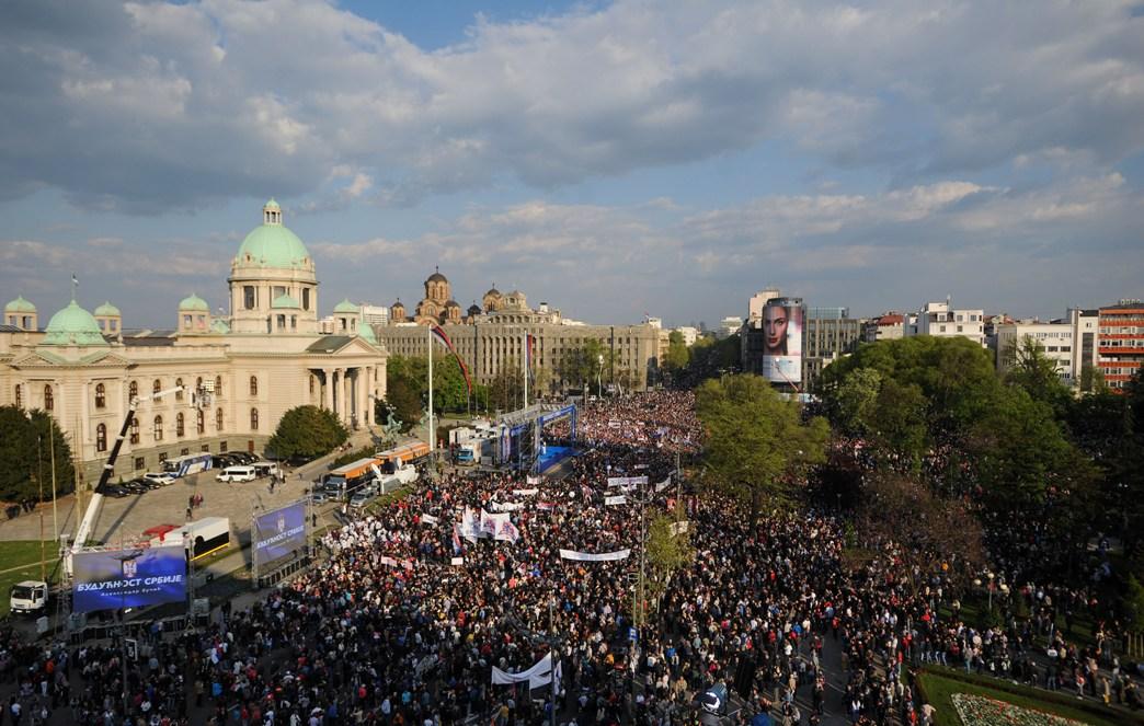 PU Beograda: Na skupu između 140.000 i 150.000 ljudi