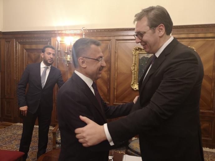 Vučić večeras sa potpredsednikom Republike Turske Fautom Oktajem