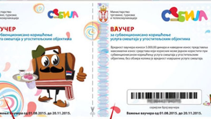 Za jedan dan podeljeno 6.700 vaučera za odmor u Srbiji