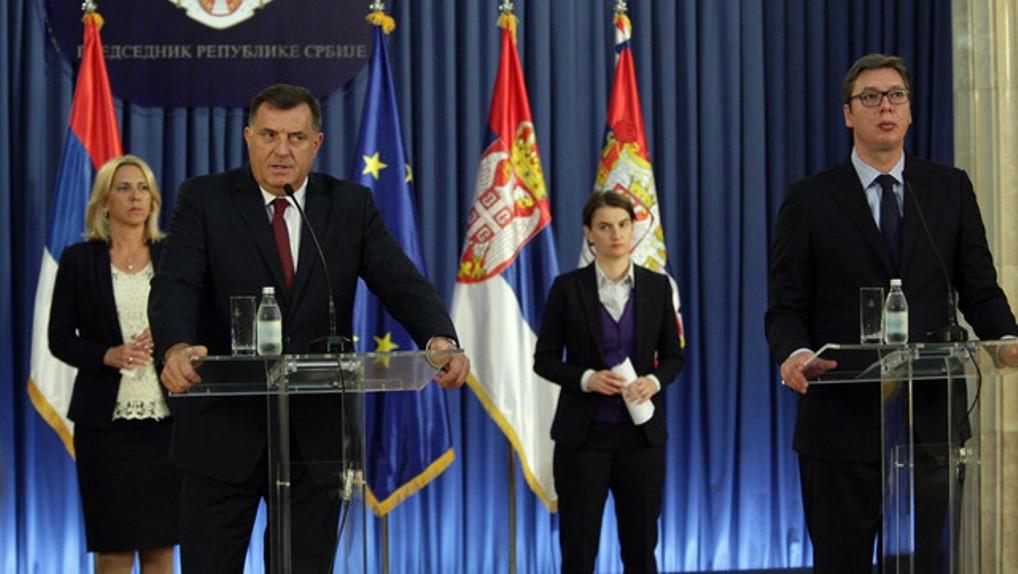 Vučić i Brnabićeva se sastaju sa Dodikom i predstavnicima RS