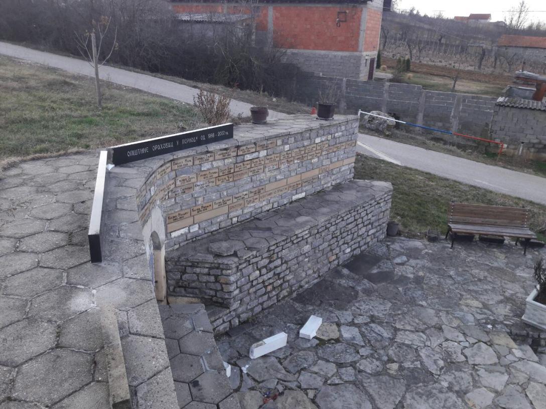 Đurić: Bezuman napad na mesto sećanja na mučki ubijene Srbe