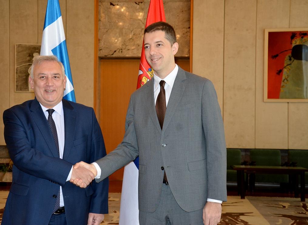 Đurić zahvalio Grčkoj na doslednoj podršci suverenitetu i teritorijalnom integritetu Srbije