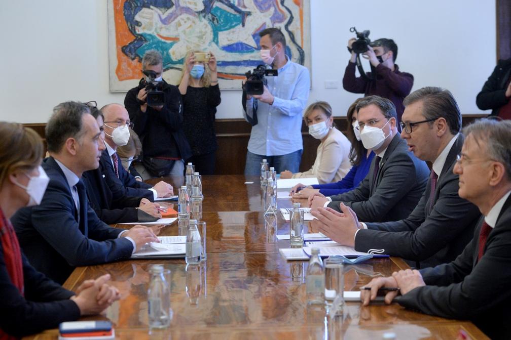 Počeo sastanak Vučića i Masa u Predsedništvu Srbije