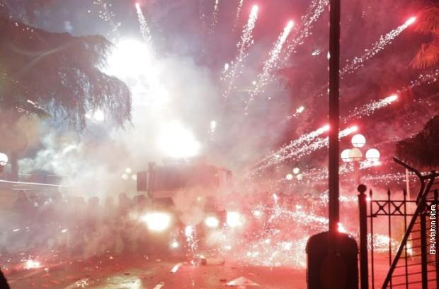 Tirana, desetine uhapšenih u ulici Džordža Buša