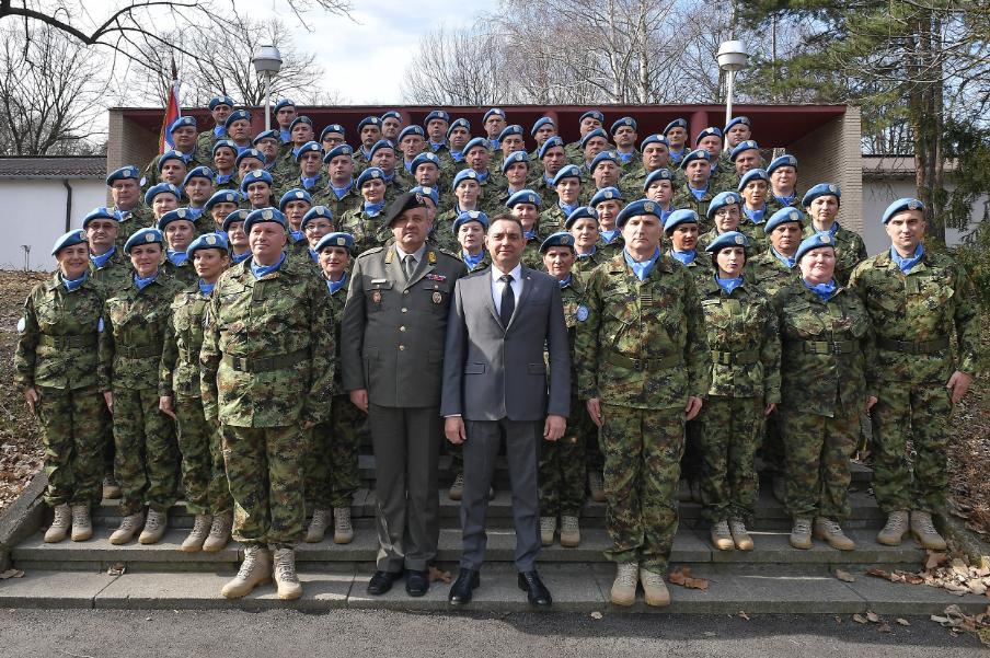Svečani ispraćaj kontingenta Vojske Srbije u misiju UN u CAR