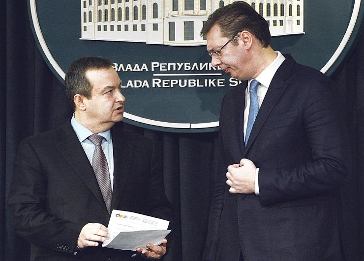 Vučić i Dačić  o dosadašnjim rezultatima rada  i oblicima saradnje u budućnosti