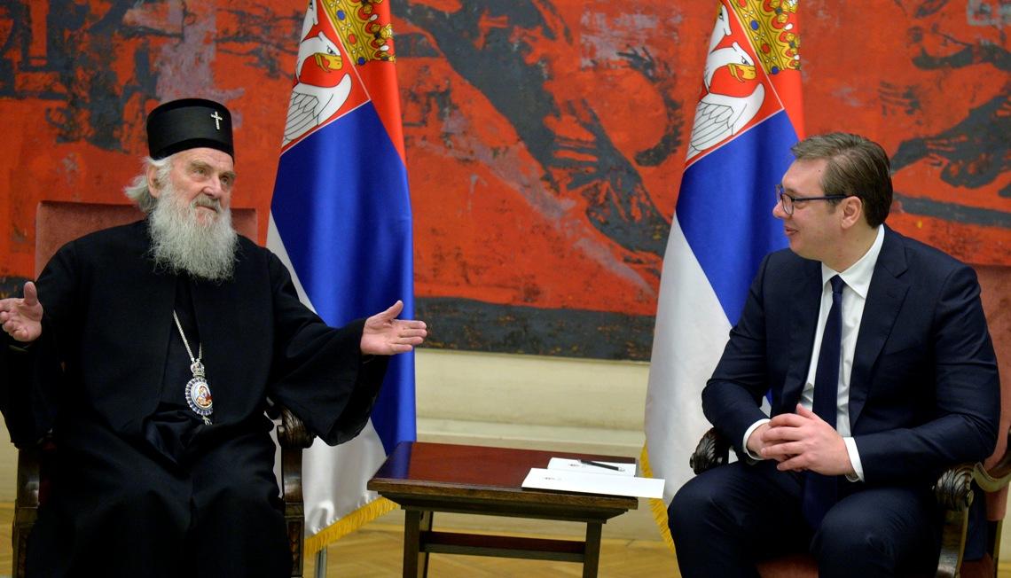 Vučić se sastao sa patrijarhom Irinejem