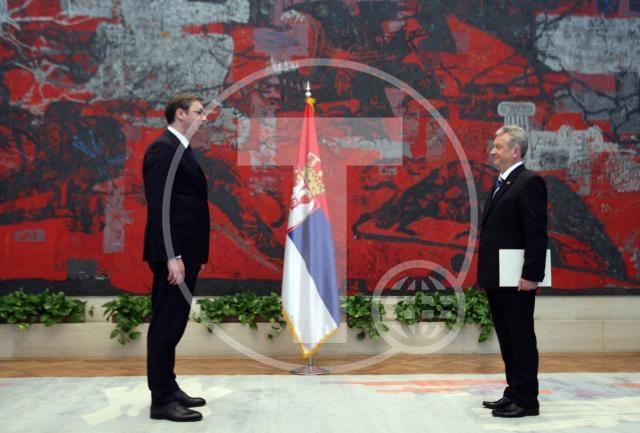 Vučić primio akreditive ambasadora Slovenije u Beogradu