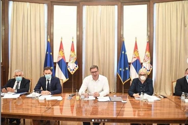 Vučić video linkom sa predstavnicima delegacije MMF-a