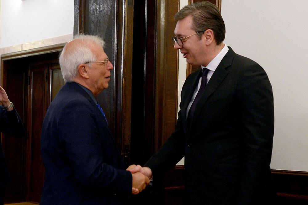 Vučić i Borel razgovarali o dijalogu Beograda i Prištine