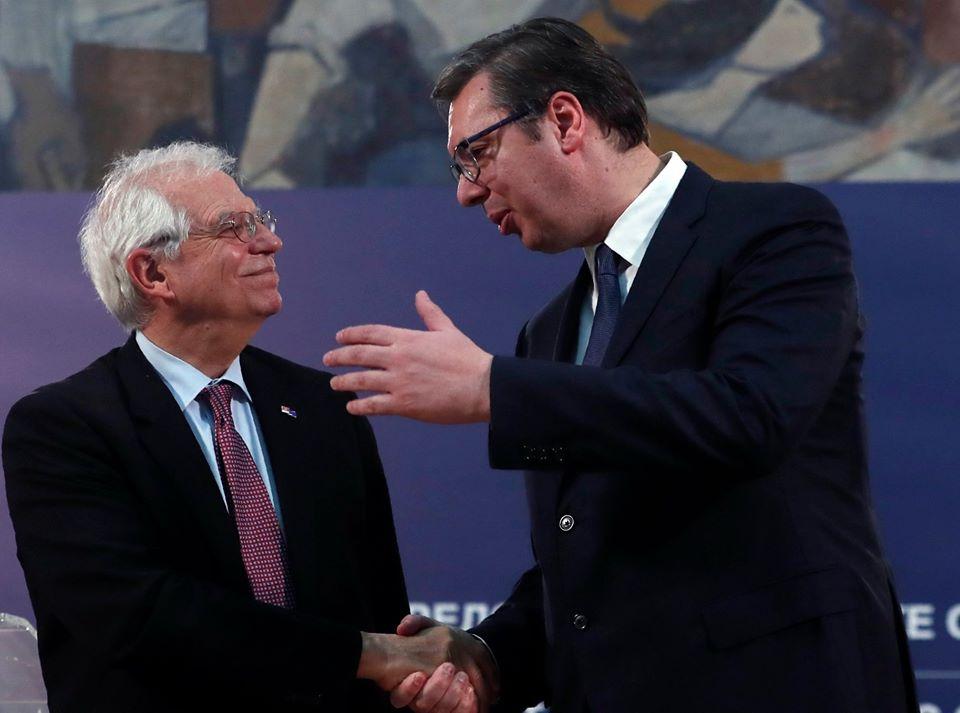 Vučić razgovarao sa Boreljom o dijalogu i o specijalnom izaslaniku EU