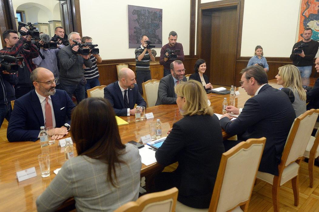 Vučić sa zvaničnicima Evropskog parlamenta