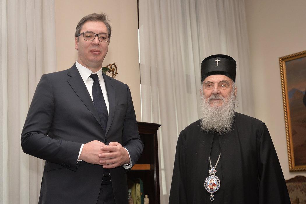 Vučić i patrijarh Irinej ujutru o Crnoj Gori