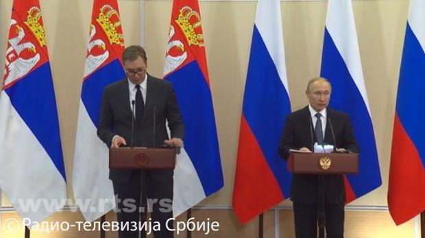 Vučić sa Putinom: Rusija će podržati moguć kompromis Beograda i biće na strani Srbije