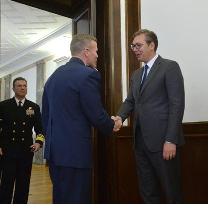 Vrhovni komandant NATO snaga u Evropi s Vučićem u Beogradu