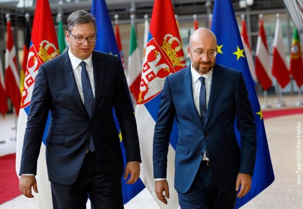 Vučić u Briselu sa predsednikom Evropskog saveta