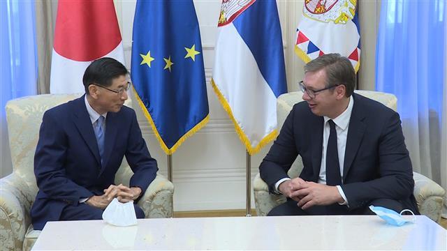 Vučić i ambasador Japana: Saradnja dve zemlje napredovala