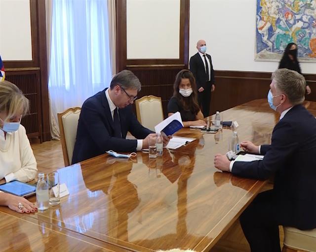 Vučić s Flesenkemperom o partnerstvu Srbije sa Savetom Evrope