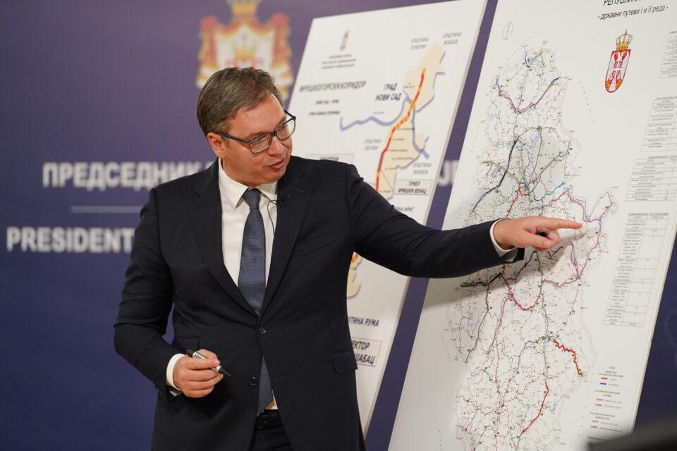Vučić na ceremoniji početka radova na izgradnji Fruškogorskog koridora