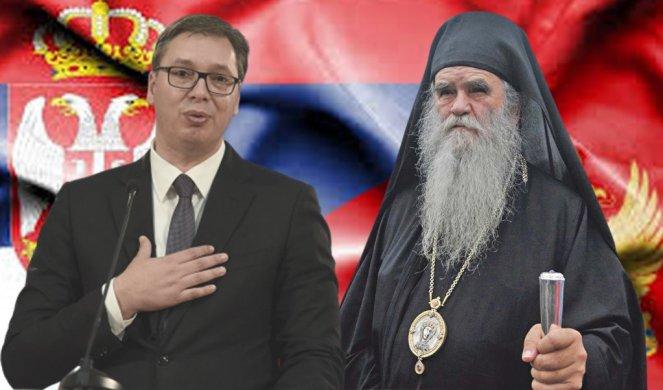 Vučić i Dodik na sahrani mitropolita Amfilohija u Crnoj Gori