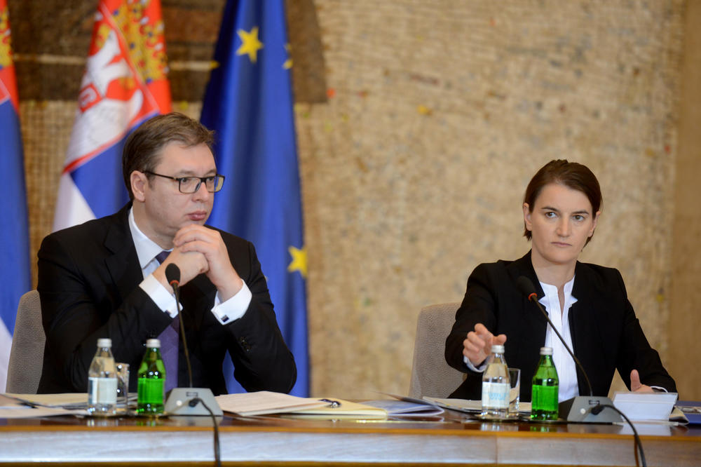 Vučić i Brnabić na otvaranju laboratorije Vatreno oko u KCS