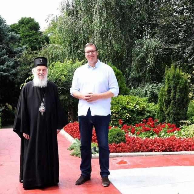 Vučić sa Irinejem: O svim važnim nacionalnim temama