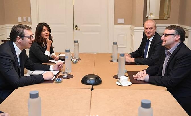 Vučić sa Palmerom i Kirbijem u Vašingtonu