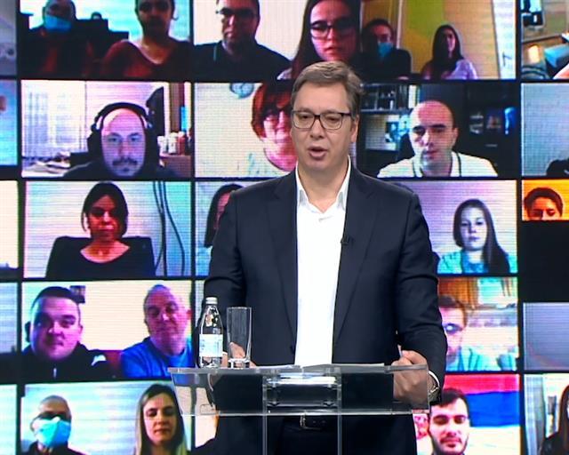 Vučić na video samitu
