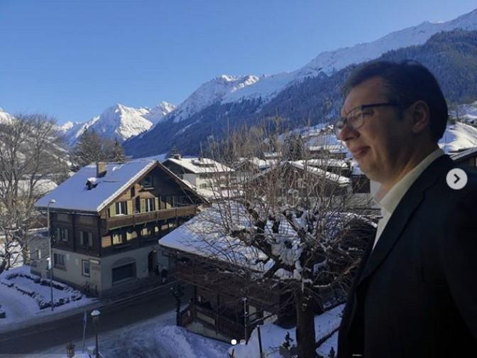 Vučić u Davosu: Šestu godinu borimo se za bolju poziciju Srbije